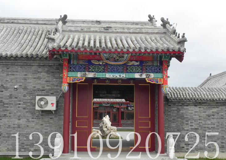 北京仿古建筑 古建设计 彩画设计